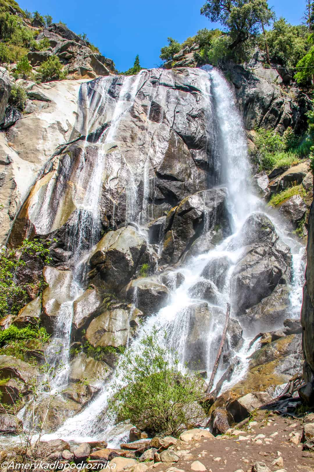 park narodowy sekwoi grizzly falls kings canyon
