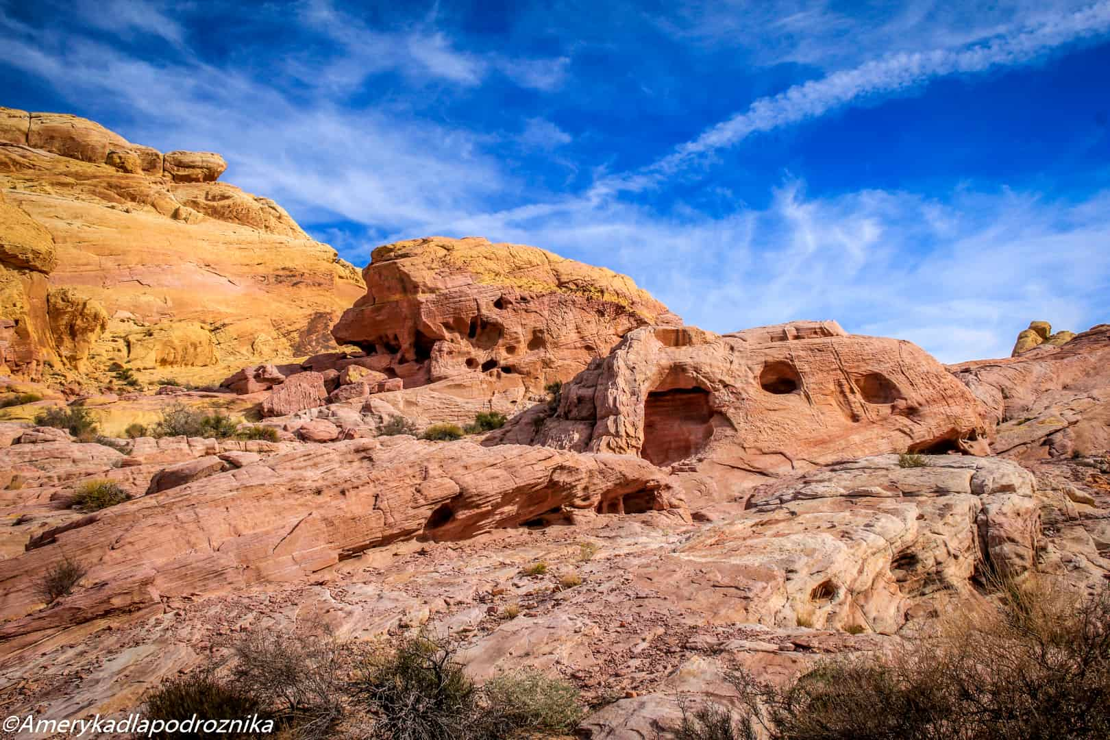 valley of fire, white domes trail
