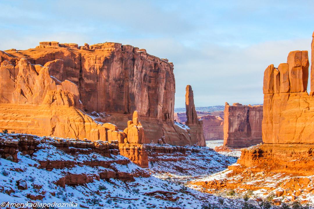 arches national park parki narodowe zachodu USA zimą