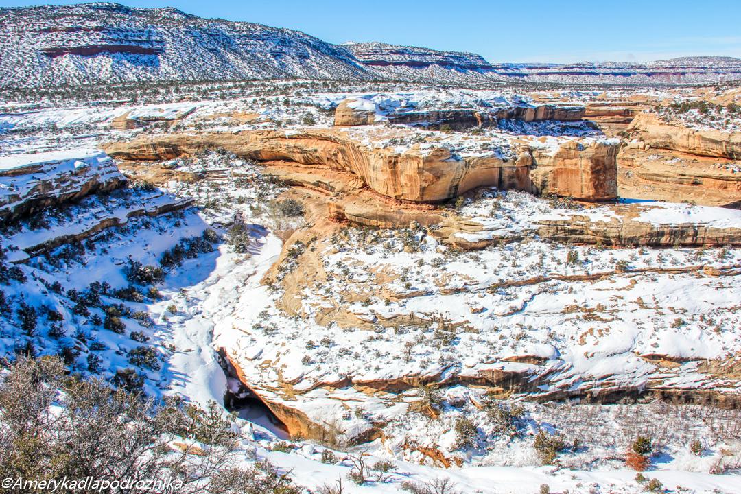 parki narodowe zachodu USA zimą
