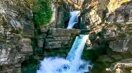 St. Mary Falls – szlak do trzech wodospadów w parku Glacier